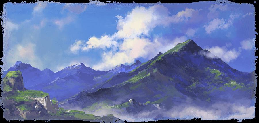 Un paysage de montagne.